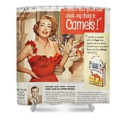 Camel Cigarette Ad, 1951 Shower Curtain