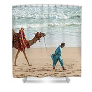 Camel Ride On Beach Shower Curtain