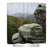 Camel Rock Shower Curtain by Andrea Silies