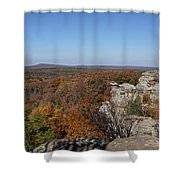 Camel Rock In Autumn Shower Curtain