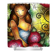 Camellia Lady Shower Curtain