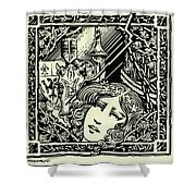 Lancelot And Guinevere Shower Curtain