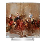 Camels And Desert 14 Shower Curtain