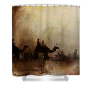 Camels And Desert 18 Shower Curtain