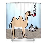 Camels Don't Smoke Pipes Shower Curtain