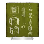 Camera Patent Drawing 2g Shower Curtain