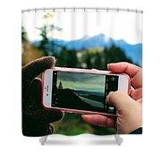 Camera Phone Shower Curtain
