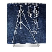 Camera Tripod Patent Shower Curtain