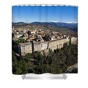 Camerino Italy - Aerial Image Shower Curtain