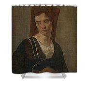 Camille Corot   A Peasant Woman Shower Curtain