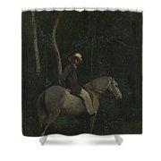 Camille Corot   Monsieur Pivot On Horseback Shower Curtain