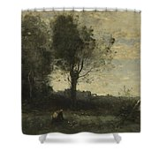 Camille Corot   The Wood Gatherer Shower Curtain