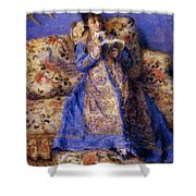 Camille Monet Reading 1872 Shower Curtain