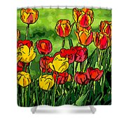 Camille's Tulips Shower Curtain
