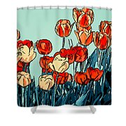Camille's Tulips - Version 3 Shower Curtain