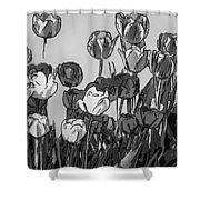 Camille's Tulips - Version 4 Shower Curtain