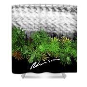 Camo -flower-range Shower Curtain