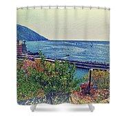 Camogli, Panorama Of The Sea. Shower Curtain