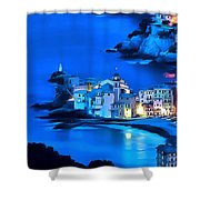 Camogli Sunrise - Camogli All'alba Paint2 Shower Curtain