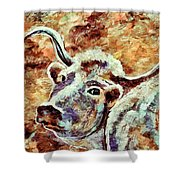 Camouflage Cow Art Shower Curtain