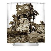 Camouflage Observation Tower Near Asilomar And The Point Pinos Lighthouse 1941 Shower Curtain