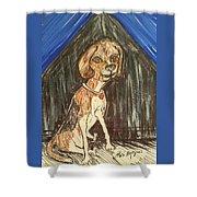 Camp Beagle Shower Curtain