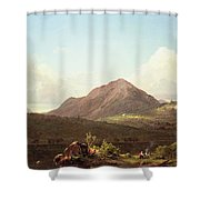 Camp Fire In The Maine Wilderness Shower Curtain