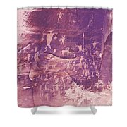 Camp Fire Story Shower Curtain