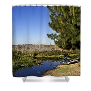 Camp Holly On The St Johns River In Florida Shower Curtain