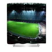 Camp Nou At Night Shower Curtain by Agusti Pardo Rossello
