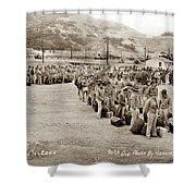 Camp San Luis Obispo Army Base 40th Division Photo 143rd Field Artillery 1941 Shower Curtain
