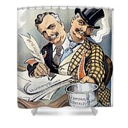 Campaign Contributions Shower Curtain
