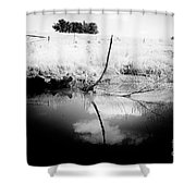Campaspe River In Black And White Shower Curtain