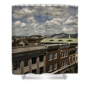 Campbell Avenue Rooftops Roanoke Virginia Shower Curtain