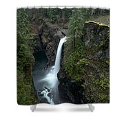 Campbell River Rain Forest Falls Shower Curtain