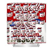Campbells Mushroom Soup Squared Shower Curtain