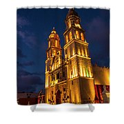 Campeche Cathedral At Evening Shower Curtain