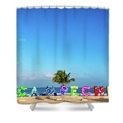 Campeche Sign And Sea Shower Curtain