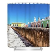 Campeche Wall And City View Shower Curtain
