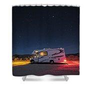 Camper Under A Night Sky Shower Curtain