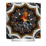 Campfire Flame Shower Curtain