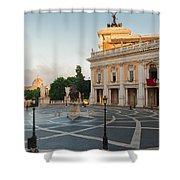 Campidoglio Square In Rome Shower Curtain