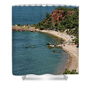 Camping And Swimming Shower Curtain