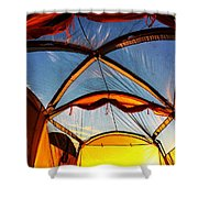 Camping At Sunrise Shower Curtain