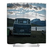 Camping At Torres Del Paine Shower Curtain