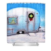 Camping Christmas  Shower Curtain