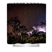 Camping On The Volcano Shower Curtain