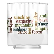 Camping Subway Art Shower Curtain