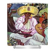 Camping Zapatistas, 1922 Shower Curtain