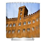 Campo Of Siena Tuscany Italy Shower Curtain by Marilyn Hunt